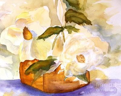 Magnolia Blossoms Art Print by Sandi Stonebraker
