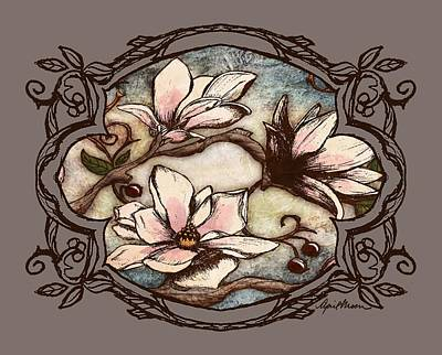 Scroll Digital Art - Magnolia Branch II by April Moen