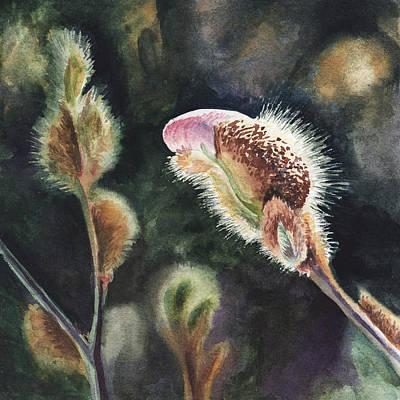 Painting - Magnolia Bud By Irina Sztukowski  by Irina Sztukowski