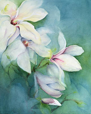 Magnolia Dedudata Art Print by Karen Armitage