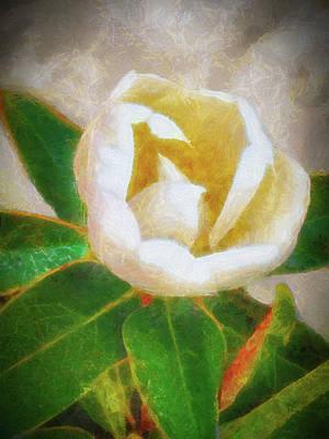 Mixed Media - Magnolia Flower by Joseph Hollingsworth