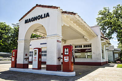 Magnolia Gas Station - Little Rock Art Print by Stephen Stookey