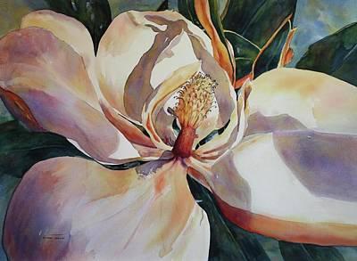 Magnolia, Golden Glow Art Print