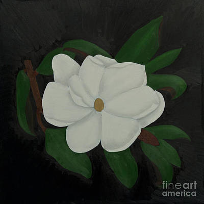 Limbo Painting - Magnolia In Black by Paul Anderson