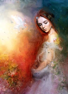 Dove Digital Art - Magnolia by Karen Koski