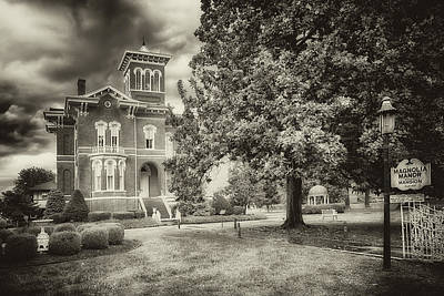 Photograph - Magnolia Manor In Black And White by Susan Rissi Tregoning