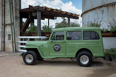 Photograph - Magnolia Market Vintage Jeep Willys Wagon by Debra Martz