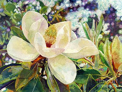 Tree Blossoms Painting - Magnolia Melody by Hailey E Herrera