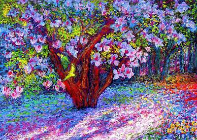 Colorful Landscape Painting - Magnolia Melody by Jane Small