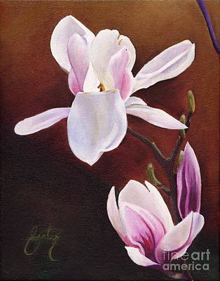 Magnolia Painting - Magnolia Open Petal by Daniela Easter