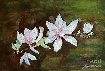 Magnolia - Painting  Art Print by Veronica Rickard