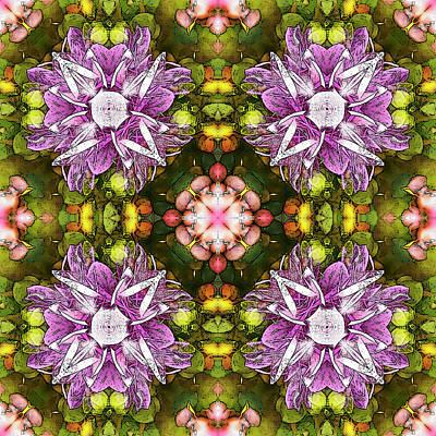 Digital Art - Magnolia Quartet by Frans Blok