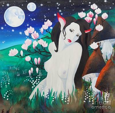 Magnolia Art Print by Tiina Rauk