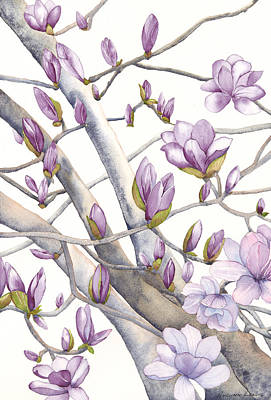 Painting - Magnolia Due by Autumn Leaves