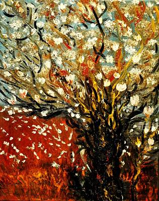 Magnolia Tree Art Print by Evelina Popilian