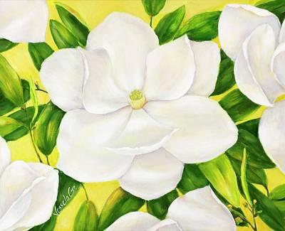 Painting - Magnolia by Vessela Kolibarova