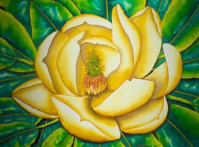 Painting - Magnolia Virginiana by Daniel Jean-Baptiste