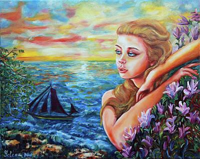 Painting - Magnolia by Yelena Rubin