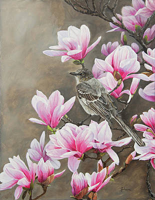 Magnolias And Mockingbird Original by Johanna Lerwick