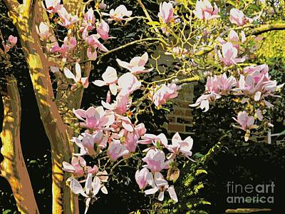 Mixed Media - Magnolias And Sunshine Posterized by Leanne Seymour