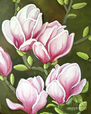 Painting - Magnolias by Inese Poga