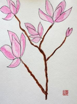 Painting - Magnolias by Margaret Welsh Willowsilk