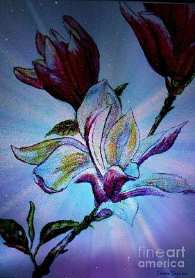 Painting - Magnolia Of Glorious Intent by Leanne Seymour