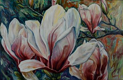 Painting - Magnolias by Rick Nederlof