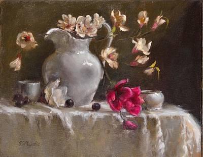 Painting - Magnolias by Viktoria K Majestic