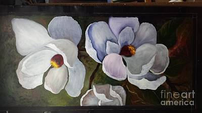 Painting - Magnolias White Flower by Barbara Haviland