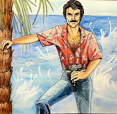 Carolyn Anderson Painting - Magnum P.i. by Carolyn Anderson