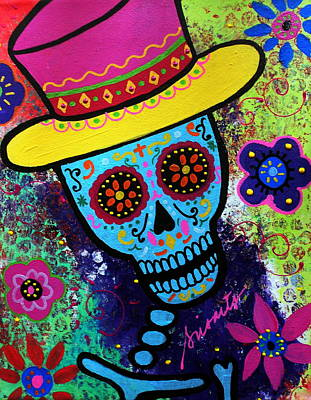Animal Watercolors Juan Bosco - Mago Day Of The Dead by Pristine Cartera Turkus