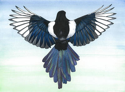 Magpies Mixed Media - Magpie # 1 by John Firth