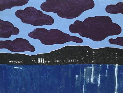 Painting - Magritte Clouds In Mallorca by Jerry W McDaniel