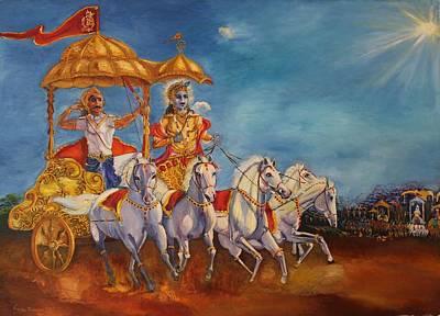 Painting - Mahabharat by Geeta Biswas
