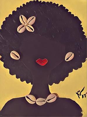 Woman Painting - Mahagoney  by K Daniel