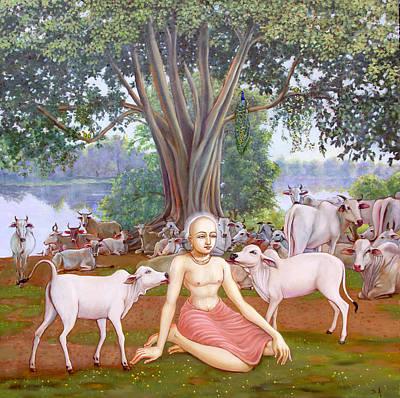 Painting - Mahaprabhu In Vrindavan 1 by Dominique Amendola
