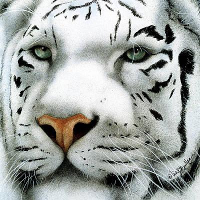 Bengal Tiger Painting - Maharajah ... by Will Bullas