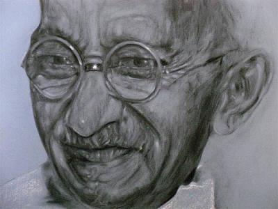 Mahatma Gandhi  Art Print by Adrienne Martino