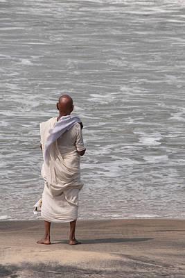 Gondi Photograph - Mahatma Gandhi, Look A Like,gondi,beach India  by Louis Jawitz