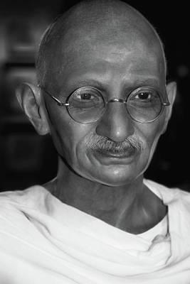 Photograph -  Mahatma Gandhi by Miroslava Jurcik