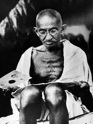 1930s Portraits Photograph - Mahatma Gandhi Prepares For A Hunger by Everett