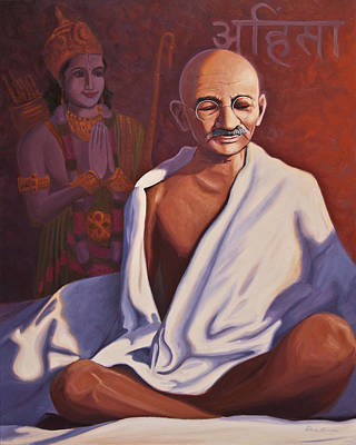 Mahatma Gandhi Art Print by Steve Simon