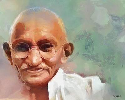 Painting - Mahatma Gandhi by Wayne Pascall