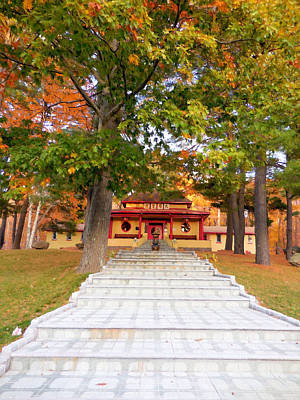 Tibetan Buddhism Painting - Mahayana Buddhist Temple 1 by Lanjee Chee