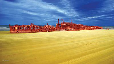 Photograph - Maheno Shipwreck Fraser Island by Gary Crockett