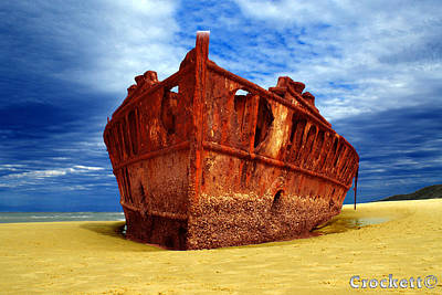 Photograph - Maheno Shipwreck Fraser Island Queensland Australia by Gary Crockett