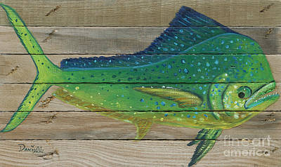 Recycle Painting - Mahi Mahi by Danielle Perry