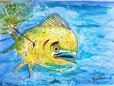 Mahi Mahi -dolphin Fish - Dorado Art Print