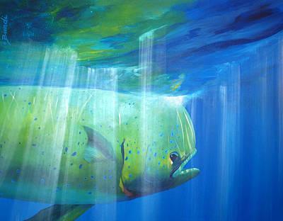 Painting - Mahi Mahi by Janet Biondi